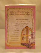 Daughter First Holy Communion Card. Daughter 1st Holy Communion Card. Daughter First Communion Greetings Card