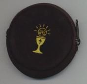 COMMUNION POLYFOAM FABIC PURSE with Zipper - Black