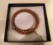 Holy Communion Gift. Holy Communion Twisted Pearl Bracelet. Holy Communion Bangle