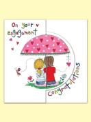 Rachel Ellen Engagement Sugar Moon Card