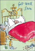 Quentin Blake - Get Well Soon Card- New in cello