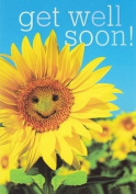 Get Well Soon Smiling Sunflower Card