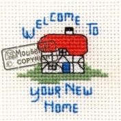 Mouseloft Mini Cross Stitch Card Kit - New Home, Occasions Collection