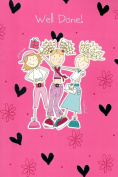 Card House ' Well Done ' Greeting Card Pink Girls Congratulations Cards New