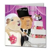 "Guinea Pigs ""Cutting The Cake"" Square Congratulations Card"