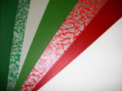 Traditional Christmas A4 Card & Paper Set - Perfect for making Christmas Cards & Christmas Tags