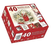 Pack of 40 Quality Christmas Cards - Assorted Bumper Box of Traditional & Cute xmas Cards