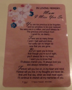Mum Graveside Memory Card. In Loving Memory Mum I Miss you So. Mum Mother's Day Graveside Memory Card
