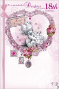 Daughter 18th Me to You Birthday Card