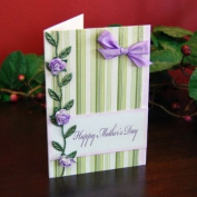 Handmade Purple Vine Mother's Day Card - Fair Trade