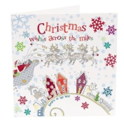 Hand Finished Christmas Wishes Across The Miles Card