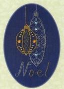 Christmas Baubles Greeting Card Kit - Cross Stitch Kit