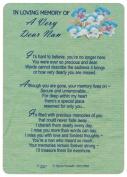 Nan Graveside Memory Card. In Loving Memory of A Very Dear Nan. Nan Mother's Day Graveside Memory Card