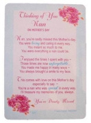 "Loving Memory Mother's Day Graveside Memorial Card & Holder 5.75 x 4""- Thinking Of You Nan 35005"