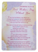 "Loving Memory Mother's Day Graveside Memorial Card & Holder 5.75 x 4""- First Mother's Day 35003"