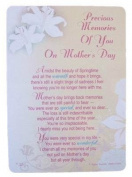 "Loving Memory Mother's Day Graveside Memorial Card & Holder 5.75 x 4""- Memories Of You 35004"