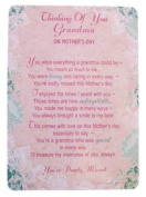 "Loving Memory Mother's Day Graveside Memorial Card & Holder 5.75 x 4""- Thinking Of You Grandma 35006"