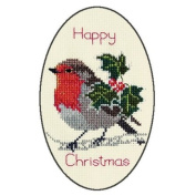 Derwentwater Designs HOLLY & ROBIN Christmas Card Kit