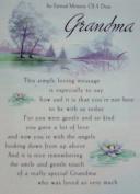 Grandma Graveside Memory Card. An Eternal Memory of A Dear Grandma. Grandma Mother's Day Graveside Memory Card
