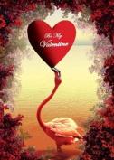 Valentines Greeting Card - Flamingo - by Max Hernn