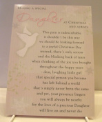 Daughter Graveside Memory Card. Missing a Special Daughter at Christmas and Always. Christmas Memory Card Daughter