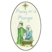 Derwentwater Designs AWAY IN A MANGER Christmas Card Kit