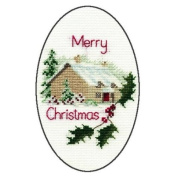 Derwentwater Designs CHRISTMAS COTTAGE Christmas Card Kit