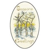 Derwentwater Designs WINTER TREES Christmas Card Kit