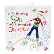 Hand Finished Amazing Son Christmas Card