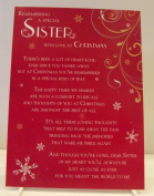 Sister Graveside Memory Card. Remembering A Special With Love At Christmas. Christmas Memory Card Sister