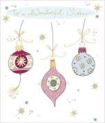 Contemporary Sister Christmas Card