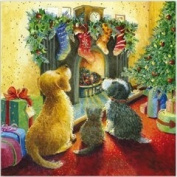 """Dogs and Cat """"twas The Night Before Christmas"""" Christmas Card Pack"""