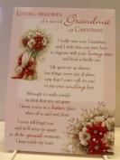 Grandma Graveside Memory Card. Loving Memories of a Special Grandma of at Christmas. Christmas Memory Card Grandma