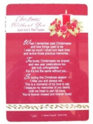 Graveside Memorial Christmas Card & Holder -Christmas Without You - 3520