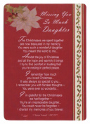 Graveside Memorial Christmas Card & Holder -Missing You So Much Daughter 3527