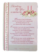 Graveside Memorial Christmas Card & Holder -Thinking Of You At Christmas Time - 3525