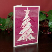 Handmade Pink Tree Christmas Cards, Pack of 5 - Fair Trade