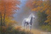 Unicorn Art Cards - Unicorn Art Greeting Cards - Unicorn Cards - Blank - Autumn Unicorn