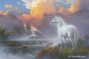 Unicorn Art Cards - Unicorn Art Greeting Cards - Unicorn Cards - Blank - Sighting Of A Magical Unicorn