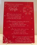 Wife Graveside Memory Card. Christmas Memories of my wonderful Wife. Christmas Memory Card Wife