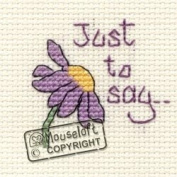 Mouseloft Mini Cross Stitch Card Kit - Just To Say, Occasions Collection