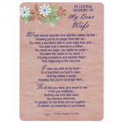 Xpress Yourself Loving Memory Graveside Memorial Card & Holder 15cm X 10cm Relations Friends Etc - My Dear Wife 35009