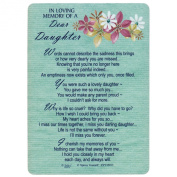 Xpress Yourself Loving Memory Graveside Memorial Card & Holder 15cm X 10cm Relations Friends Etc - Dear Daughter 35013