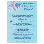 Xpress Yourself Loving Memory Graveside Memorial Card & Holder 15cm X 10cm Relations Friends Etc - A Very Dear Friend 358016