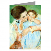 Celebrate Mothers with these 12 Vintage Note Cards of Mary Cassatt's Impressionist Painting Combing A Childs Hair 1879