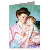 Celebrate Mothers with these 12 Vintage Note Cards of Mary Cassatt's Impressionist Painting Mary Cassatt's Sleepy Baby 1910