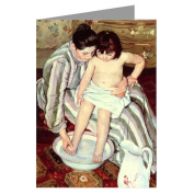 Celebrate Mothers with these 12 Vintage Note Cards of Mary Cassatt's Impressionist Painting The Bath 1891