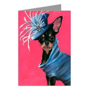 Chihuahua in Haute Couture Dress Note Card