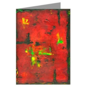 """""""Farenheit 5080cm Original Abstract Art by the Artist Philo Greeting Card boxed set"""
