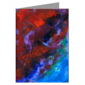 """""""Hot Sky"""" Original Abstract Art by the Artist Philo Greeting Card boxed set"""